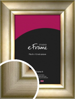 Flowing Satin Flecked Silver Picture Frame, 8x12