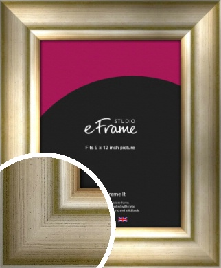 Flowing Satin Flecked Silver Picture Frame, 9x12
