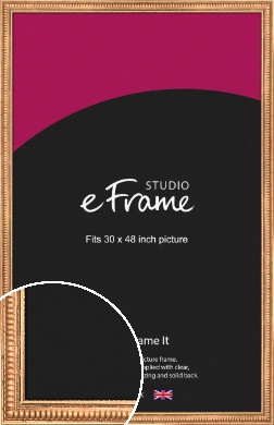 Ribbed Gold Picture Frame, 30x48