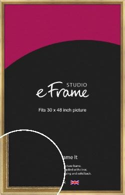 Beaded Detail Elegant Gold Picture Frame, 30x48