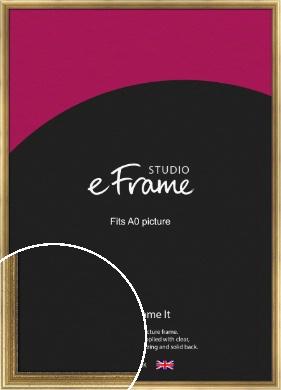 Beaded Detail Elegant Gold Picture Frame, A0 (841x1189mm) (VRMP-503-A0)