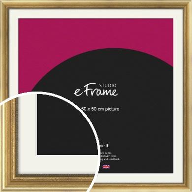 Beaded Detail Elegant Gold Picture Frame & Mount, 50x50cm (VRMP-503-M-50x50cm)