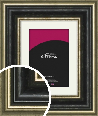 Artisan Black & Silver Picture Frame & Mount (VRMP-1338-M)
