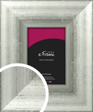 Distressed Lustre Silver Picture Frame, 10x15cm (4x6