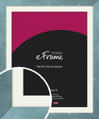 Watermark Dark Silver Picture Frame & Mount, 40x50cm (VRMP-A069-M-40x50cm)