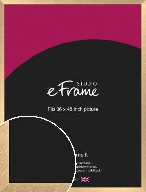 Luxury Lattice Bronze / Copper Picture Frame, 36x48