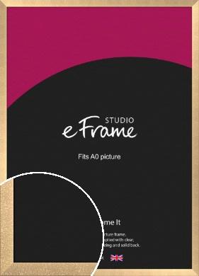 Luxury Lattice Bronze / Copper Picture Frame, A0 (841x1189mm) (VRMP-A071-A0)