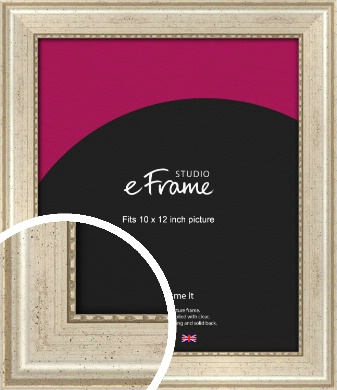 Beaded Silver Picture Frame, 10x12