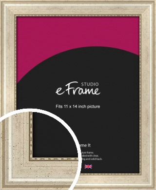 Beaded Silver Picture Frame, 11x14
