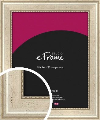 Beaded Silver Picture Frame, 24x30cm (VRMP-443-24x30cm)