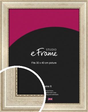 Beaded Silver Picture Frame, 30x40cm (VRMP-443-30x40cm)