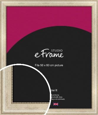 Beaded Silver Picture Frame, 50x60cm (VRMP-443-50x60cm)