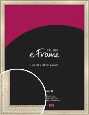 Beaded Silver Picture Frame, 60x80cm (VRMP-443-60x80cm)