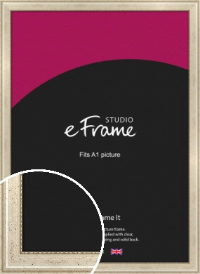 Beaded Silver Picture Frame, A1 (594x841mm) (VRMP-443-A1)