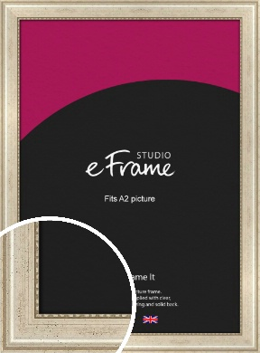 Beaded Silver Picture Frame, A2 (420x594mm) (VRMP-443-A2)