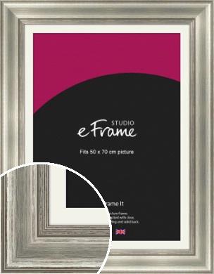 Charming Silver Picture Frame & Mount, 50x70cm (VRMP-659-M-50x70cm)