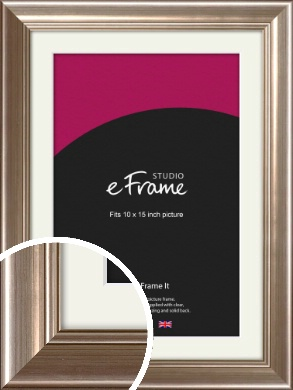 Timeless Silver Picture Frame & Mount, 10x15