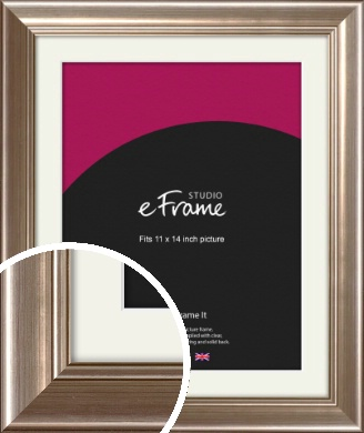Timeless Silver Picture Frame & Mount, 11x14