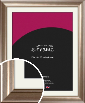 Timeless Silver Picture Frame & Mount, 14x18