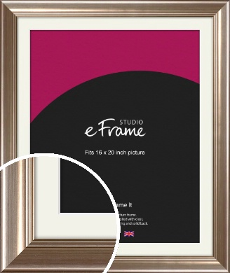 Timeless Silver Picture Frame & Mount, 16x20