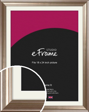 Timeless Silver Picture Frame & Mount, 18x24