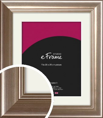 Timeless Silver Picture Frame & Mount, 20x25cm (8x10