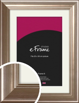 Timeless Silver Picture Frame & Mount, 20x30cm (8x12