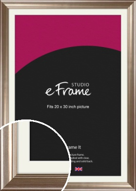 Timeless Silver Picture Frame & Mount, 20x30