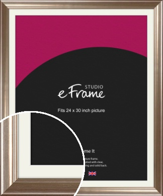 Timeless Silver Picture Frame & Mount, 24x30