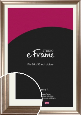 Timeless Silver Picture Frame & Mount, 24x36