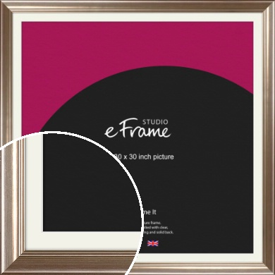 Timeless Silver Picture Frame & Mount, 30x30
