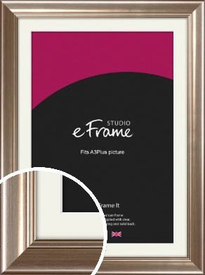 Timeless Silver Picture Frame & Mount, A3Plus (VRMP-444-M-329x483mm)