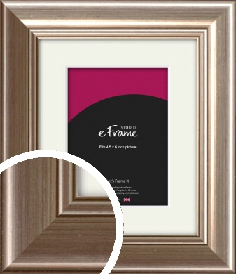 Timeless Silver Picture Frame & Mount, 4.5x6