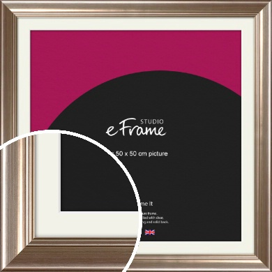 Timeless Silver Picture Frame & Mount, 50x50cm (VRMP-444-M-50x50cm)