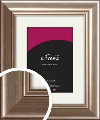 Timeless Silver Picture Frame & Mount, 5x7