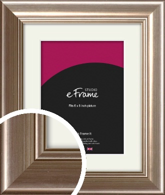Timeless Silver Picture Frame & Mount, 6x8