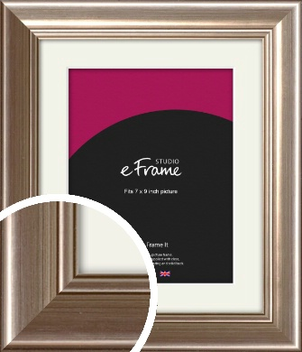 Timeless Silver Picture Frame & Mount, 7x9