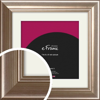 Timeless Silver Picture Frame & Mount, 8x8