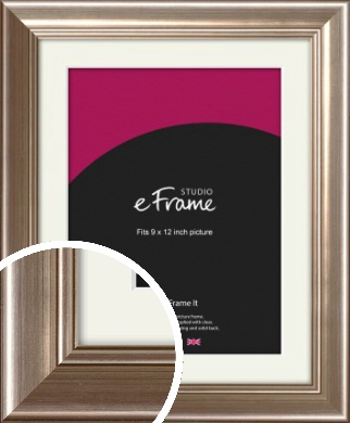 Timeless Silver Picture Frame & Mount, 9x12