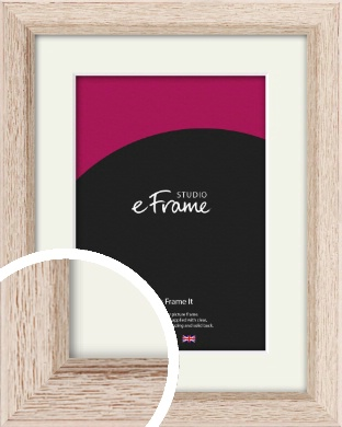 Organic Driftwood Cream Picture Frame & Mount (VRMP-415-M)