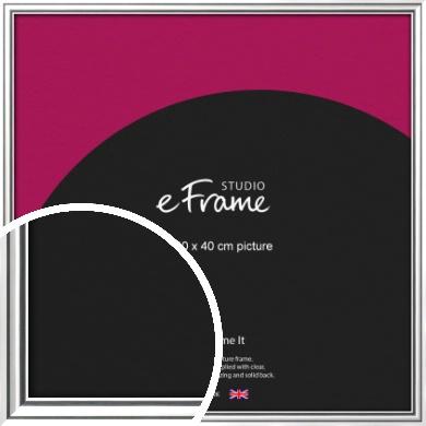 Polished Silver Picture Frame, 40x40cm (VRMP-A073-40x40cm)