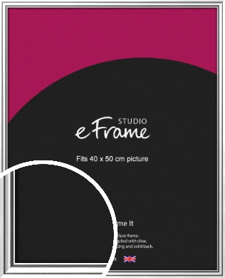 Polished Silver Picture Frame, 40x50cm (VRMP-A073-40x50cm)