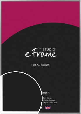 Polished Silver Picture Frame, A0 (841x1189mm) (VRMP-A073-A0)