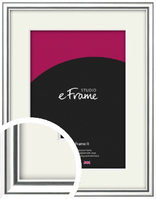 Polished Silver Picture Frame & Mount (VRMP-A073-M)