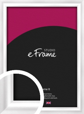 Curved Frosted Silver Picture Frame (VRMP-A072)