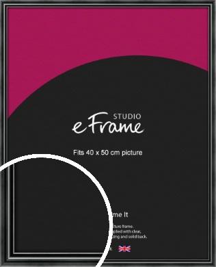 Rounded Modern Black Picture Frame, 40x50cm (VRMP-A074-40x50cm)