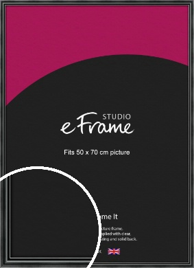 Rounded Modern Black Picture Frame, 50x70cm (VRMP-A074-50x70cm)