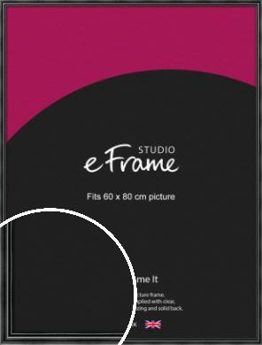 Rounded Modern Black Picture Frame, 60x80cm (VRMP-A074-60x80cm)