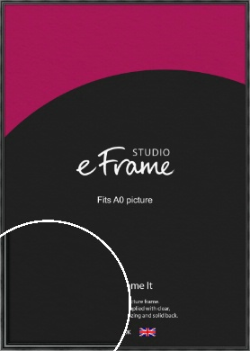 Rounded Modern Black Picture Frame, A0 (841x1189mm) (VRMP-A074-A0)