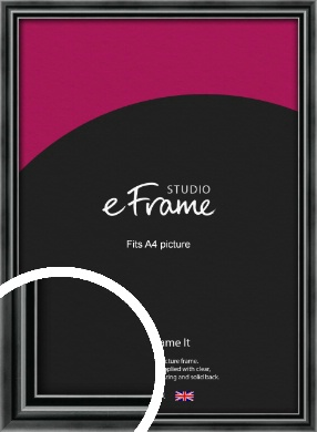 Rounded Modern Black Picture Frame, A4 (210x297mm) (VRMP-A074-A4)